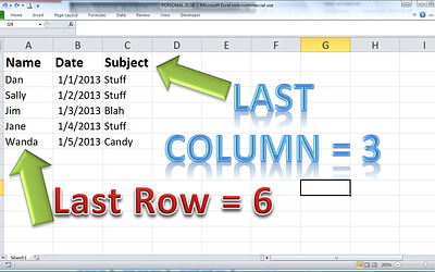 Getting the Last Row with Excel VBA
