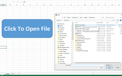 How To Prompt For A File In Excel VBA